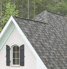 architecture beige wood siding with weathered wood shingles and