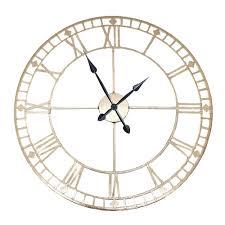 round wall clock antique gold gold wall clocks pagazzi lighting