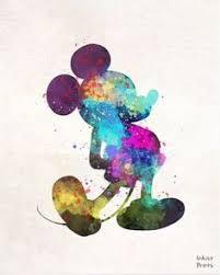 mickey mouse art print illustration disney mixed by subjectart