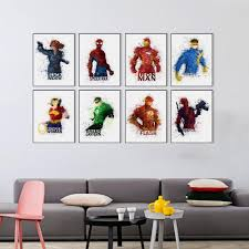 modern watercolor avengers movie superhero batman superman canvas modern watercolor avengers movie superhero batman superman canvas a4 art print poster wall pictures home decor painting