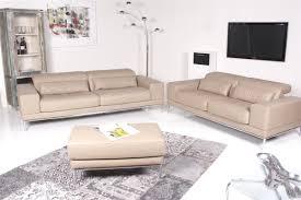 sofa garnitur 3 teilig machalke sofa reno leder beige 3 tlg machalke
