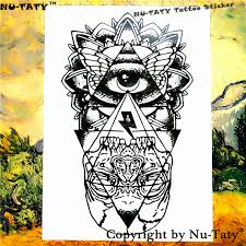 tattoo home decor nu taty the evil eye temporary tattoo body art flash tattoo
