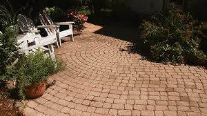 Simple Brick Patio With Circle Paver Kit Patio Designs And Ideas by Patios Design Ideas Pictures And Makeovers