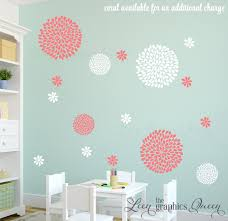 flower wall decals mum peony floral decals flower wall decals