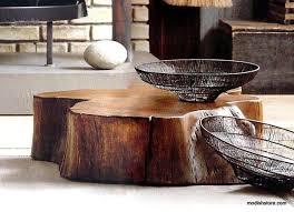 Acacia Table Roost Acacia Slice Coffee Table U0026 Stump Stool U2013 Modish Store