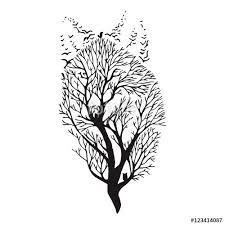 wolf run silhouette exposure blend tree drawing vector