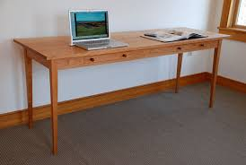 Desks For Two Computers Handmade Two Person Computer Desk Custom Made Of Cherry Hardwood