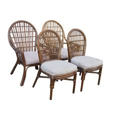 Wicker Dining Room Furniture Midcentury Retro Style Modern Architectural Vintage Furniture From