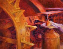 Color Painting by This Oil Painting Homage Howard Is An Excellent Use Of