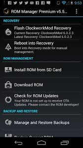 cwm apk rom manager android apps on play