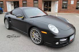 porsche wrapped porsche carrera 4s satin black vehicle customization shop