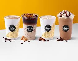 Iced Coffee Mcd mcdonald s challenges starbucks dunkin with new mccafe menu look