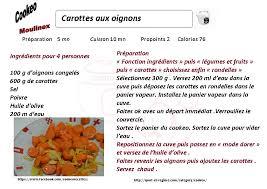 recette de cuisine cookeo recette cookeo diététique carottes aux oignons