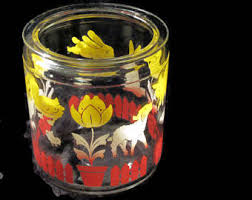 glass canister jar etsy