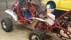 honda fl350 odyssey buggy ride honda fl350 travel 5 link rear suspension build