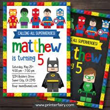 Superhero Invitation Card Lego Batman Party Invitation Ideas Visit Www Fireblossomcandle