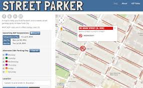 a map nyc nyc alternate side parking regulations map