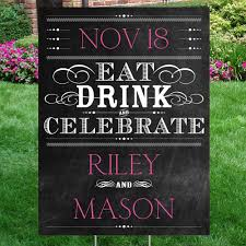 chalkboard style yard sign invitations by