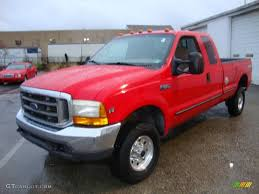 1999 vermillion red ford f350 super duty xlt supercab 4x4