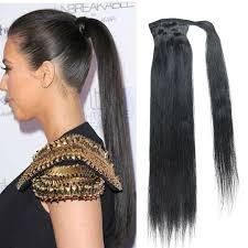ponytail hair extensions real human hair clip in ponytail prices of remy hair