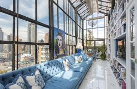 a view of the bridge from colorful penthouse wsj