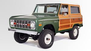 bronco car 2016 1974 woody ford bronco outside online