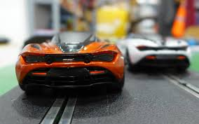 orange mclaren rear scalextric c3895 mclaren 720s azores orange mclaren 720s