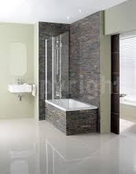design 1500mm semi frameless triple bath screen