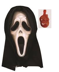 halloween bleeding scream ghost mask blood pump scary fancy