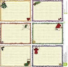 folk art holiday recipe cards stock image image 17032381