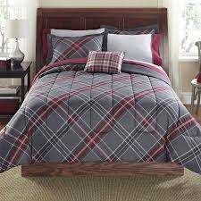 Red Bedroom Comforter Set Mainstays 8 Piece Bed In A Bag Bedding Comforter Set Grey Plus