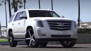 cadillac escalade black rims 2015 cadillac escalade on 26 inch r four lexani wheels youtube