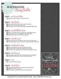 Household Items Checklist by Supply 101 Cleaning Guide Beginner U0027s Printable Cleaning
