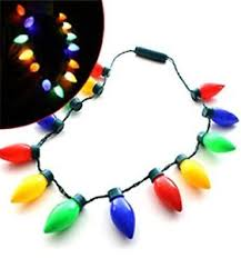 flashing christmas light bulbs flashing christmas holiday light bulb necklace 13 individual bulbs