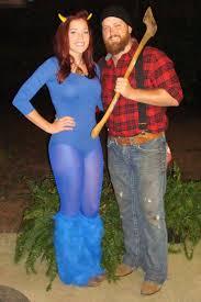 Cute Partner Halloween Costumes Clever Creative Paul Bunyan Blue Ox Diy