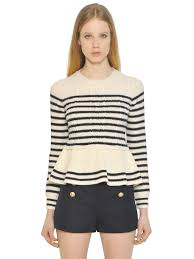 red valentino online shop sale red valentino striped cable wool