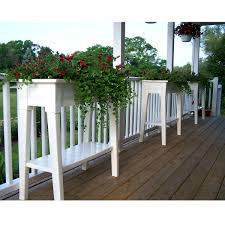 Raised Patio Planter by Raised Planter In White Resin Great For Herbs Vegetables And