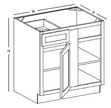 white shaker corner kitchen cabinet bbc45 48u blind corner base cabinet snow white shaker rta