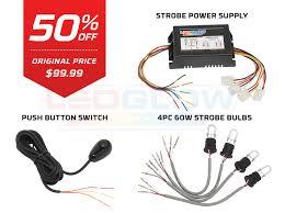 led strobe light kit ledglow 4pc hid xenon headlight strobe light kit
