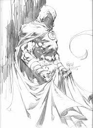 moon knight sketch comic art 02 david finch gênero masculino