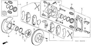 honda crv parts 2004 45251 smc n11 genuine honda disk fr brake 15