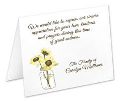 funeral thank you notes sympathy thank you etsy
