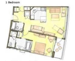 Bay Lake Tower One Bedroom Villa Floor Plan Bay Lake Tower At Disney U0027s Contemporary Resort 2 Bedroom Villa
