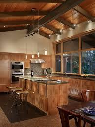 cuisine bois acier cuisines cuisine moderne bois latte poutre metal acier chaise bar