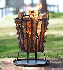 Small Firepit Compact Iron Basket Style Pit Just The Right Size For A