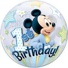mickey mouse 1st birthday bubbles mickey mouse 1st birthday balloon delivered inflated in uk