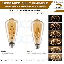 led edison light bulb dimmable antique decorative light bulbs