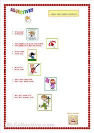 9 best images of printable kindergarten worksheets on adjectives