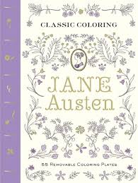 classic coloring jane austen 55 removable coloring plates by