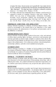 parent student handbook u2013 calvary christian academy